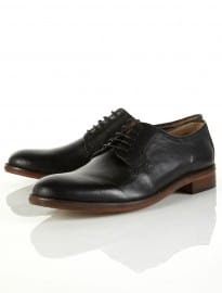 Topman Walteroot Black Leather Shoes
