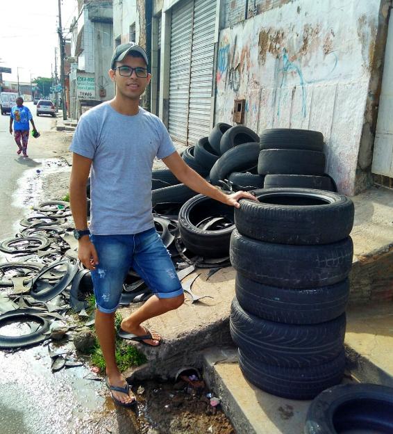 pneus velhos viram caminhas