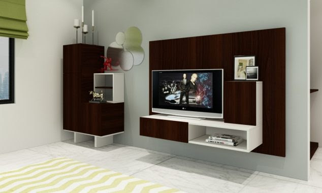 elite contemporary living room 634x380 15 Amazing TV Units that Demonstrate Stylish Trends
