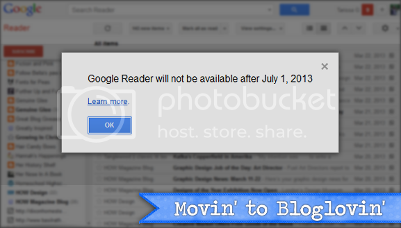 Movin' to Bloglovin'