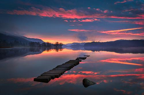 Loch Ard Sunrise by ajnabeee