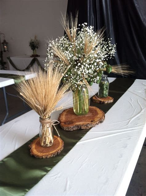 Hops and barley centerpiece by Exquisite Events, Bismarck
