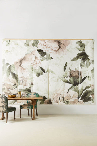 Blush Floral Wallpaper Mural  anewall