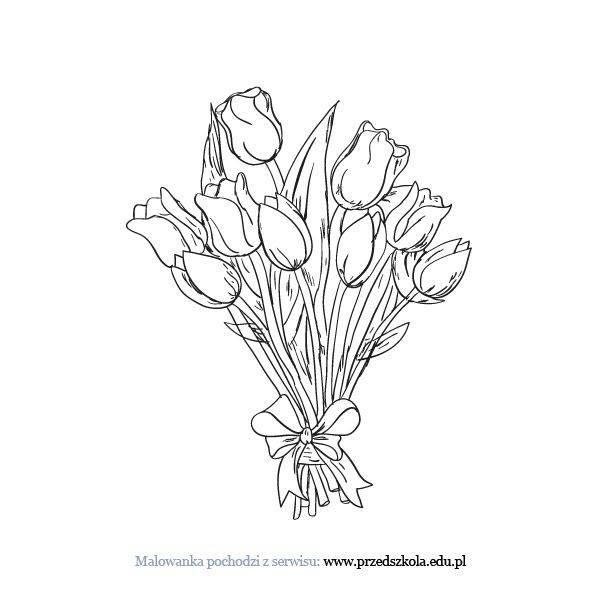 foto de Najlepiej Tulipany Kolorowanki Kolorowanki Dla Dzieci