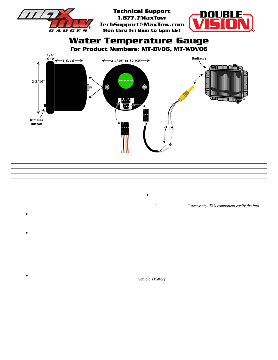 Volt Gauge Wiring Diagram