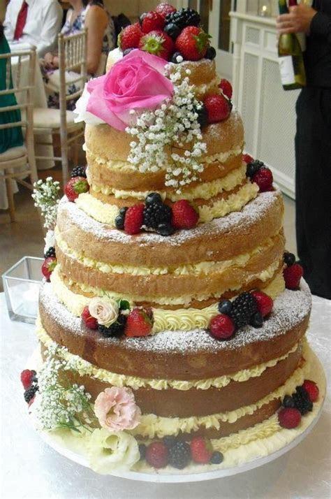 Sponge wedding cake. Naked cake. Victoria sponge   SHABBY