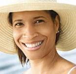 Photo: Woman wearing large hat