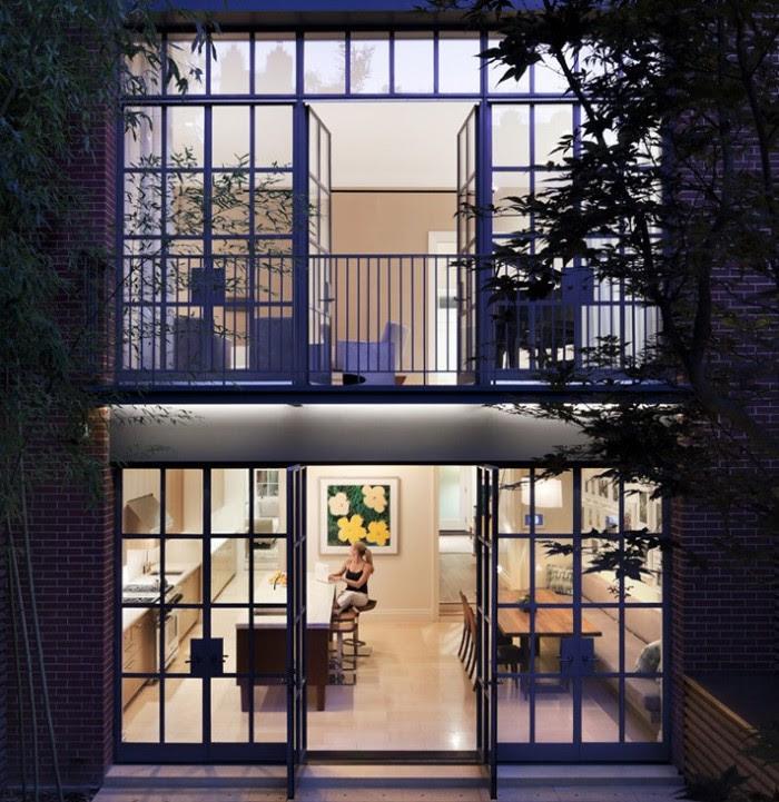 city apartment balconey