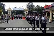 VIDEO: Di Polres Tebo, Dahi Kapolda Jambi Ditembak Thermogan