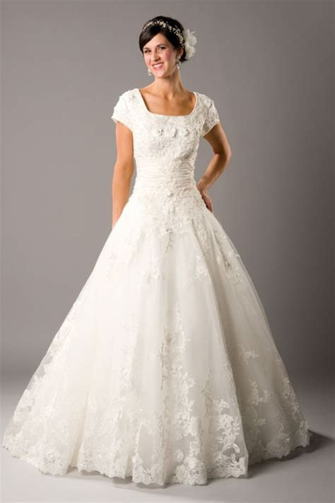 Modest Wedding Dresses Lds   Shopping Guide. We Are Number
