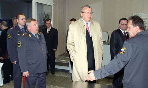 Photo: Mr. Fedotov on tour at the Domodedovo Training Centre