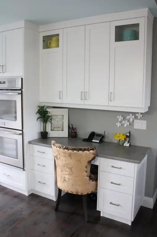 30 Functional Kitchen Desk Designs