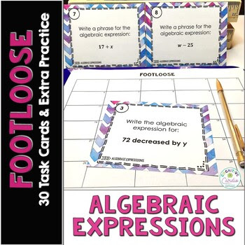 Algebraic Expressions Footloose (and extra practice!)