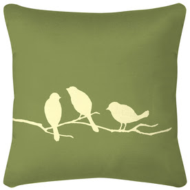 Shop 3 Birds New Green UV-Protected Outdoor Accent Pillow at Lowes.