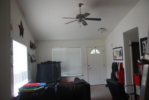new fan in living room