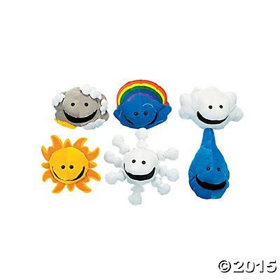 What's the Weather Puppets   6 per set Party Supplies
