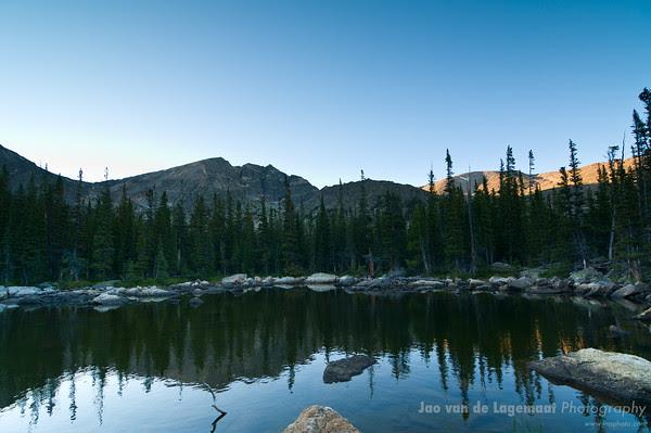 Chipmunk Lake at sunset