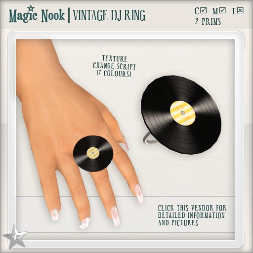 [MAGIC NOOK] Vintage DJ Ring