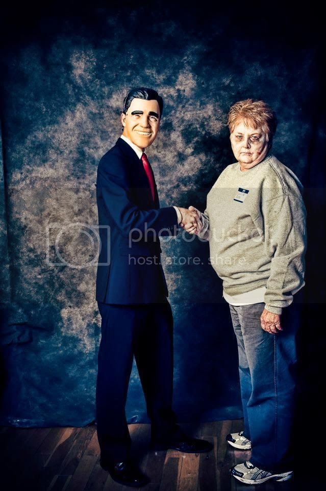 Mitt Romney with a Zombie Voter