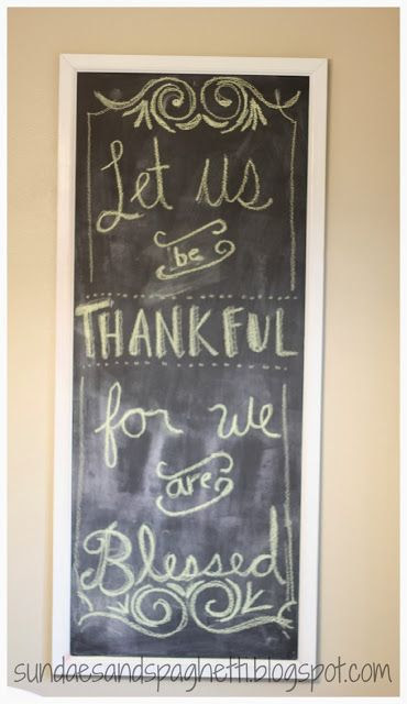 chalkboard thanksgiving quote