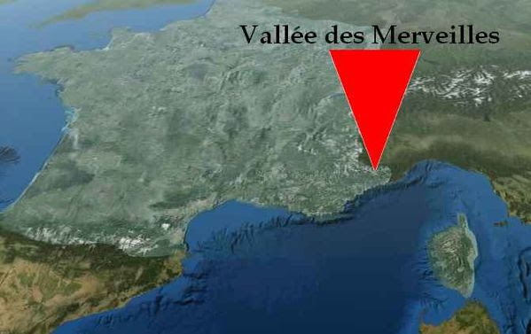 Vallée des Merveilles - Carte