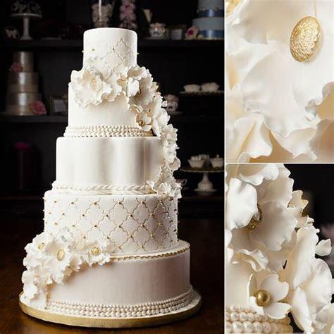 White and gold wedding cake   Holy Cakes!!!   White, gold