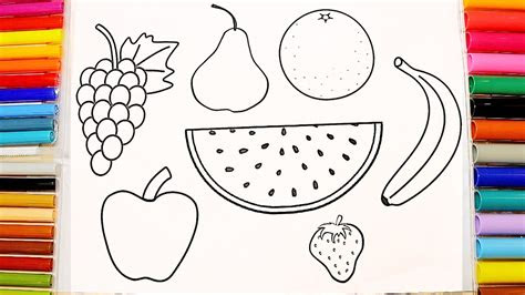 names fruits coloring pages  children youtube