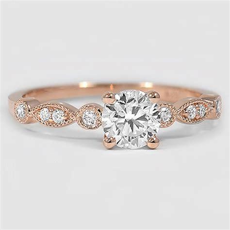 14K Rose Gold Tiara Diamond Ring   Wedding Ideas   Pinterest