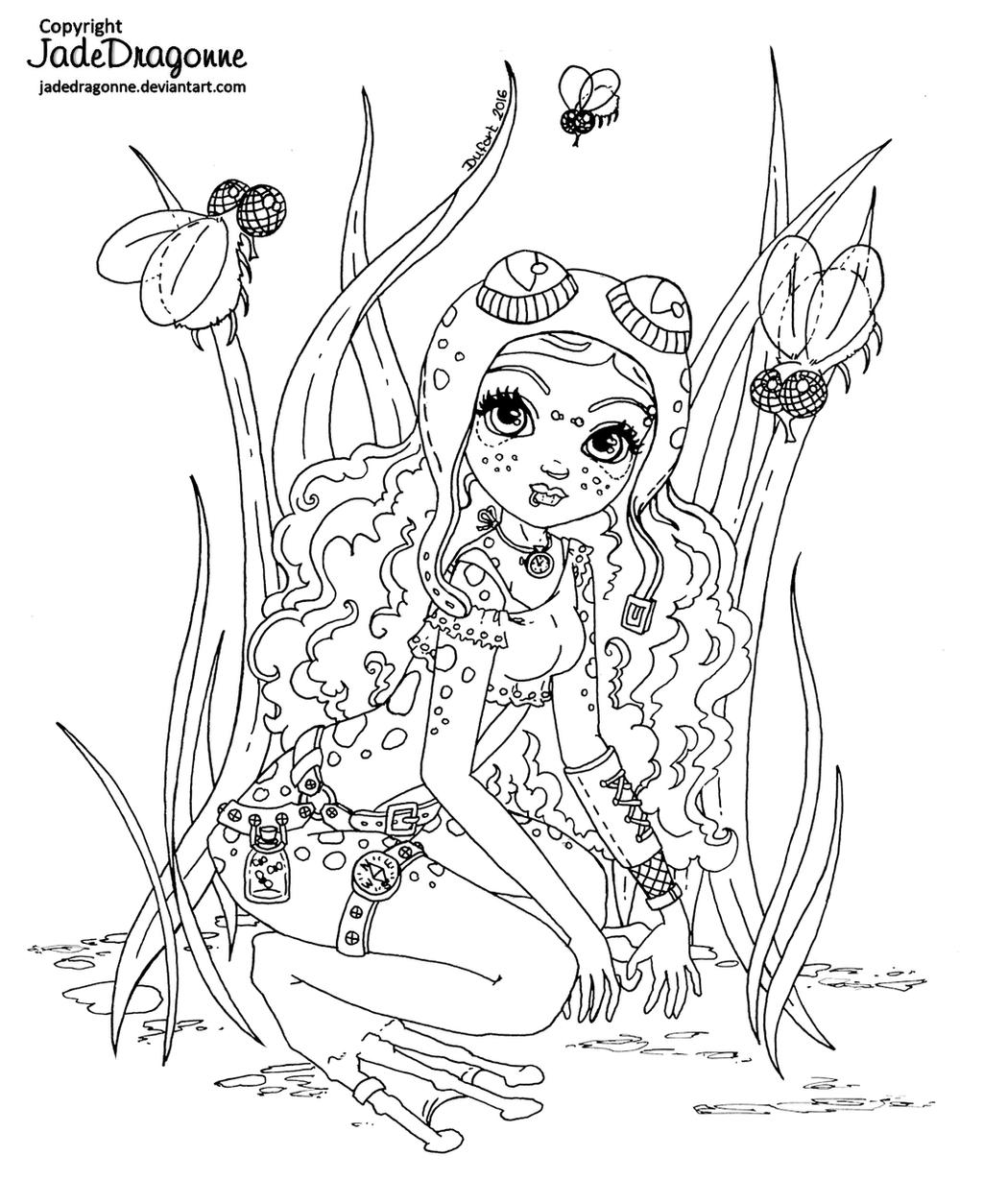 Steampunk frog fairy- Lineart by JadeDragonne on DeviantArt