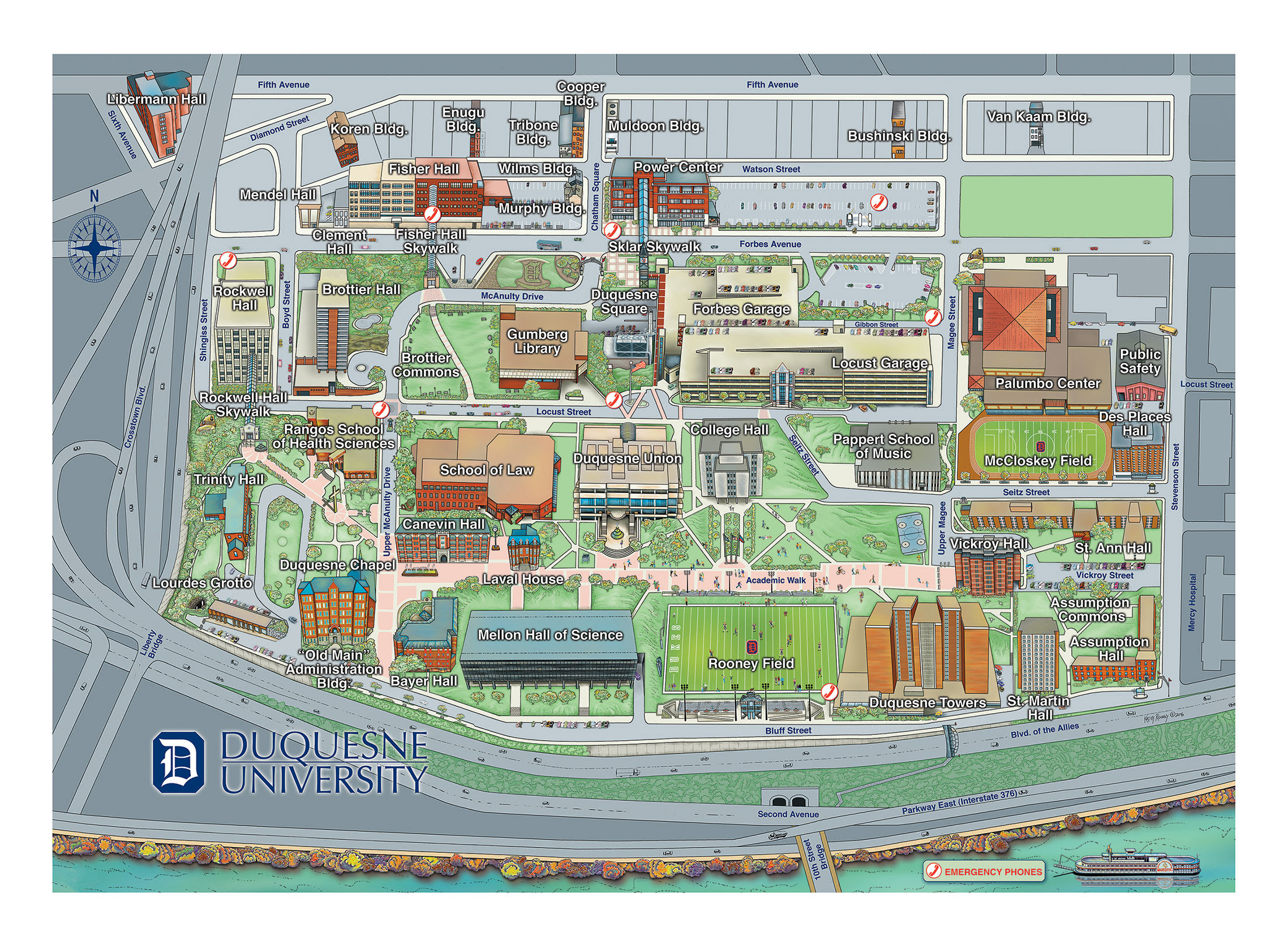 Pittsburgh Campus Map | Time Zones Map on university of pittsburgh street map, presbyterian hospital pittsburgh campus map, u of minn campus map, upmc pittsburgh map,