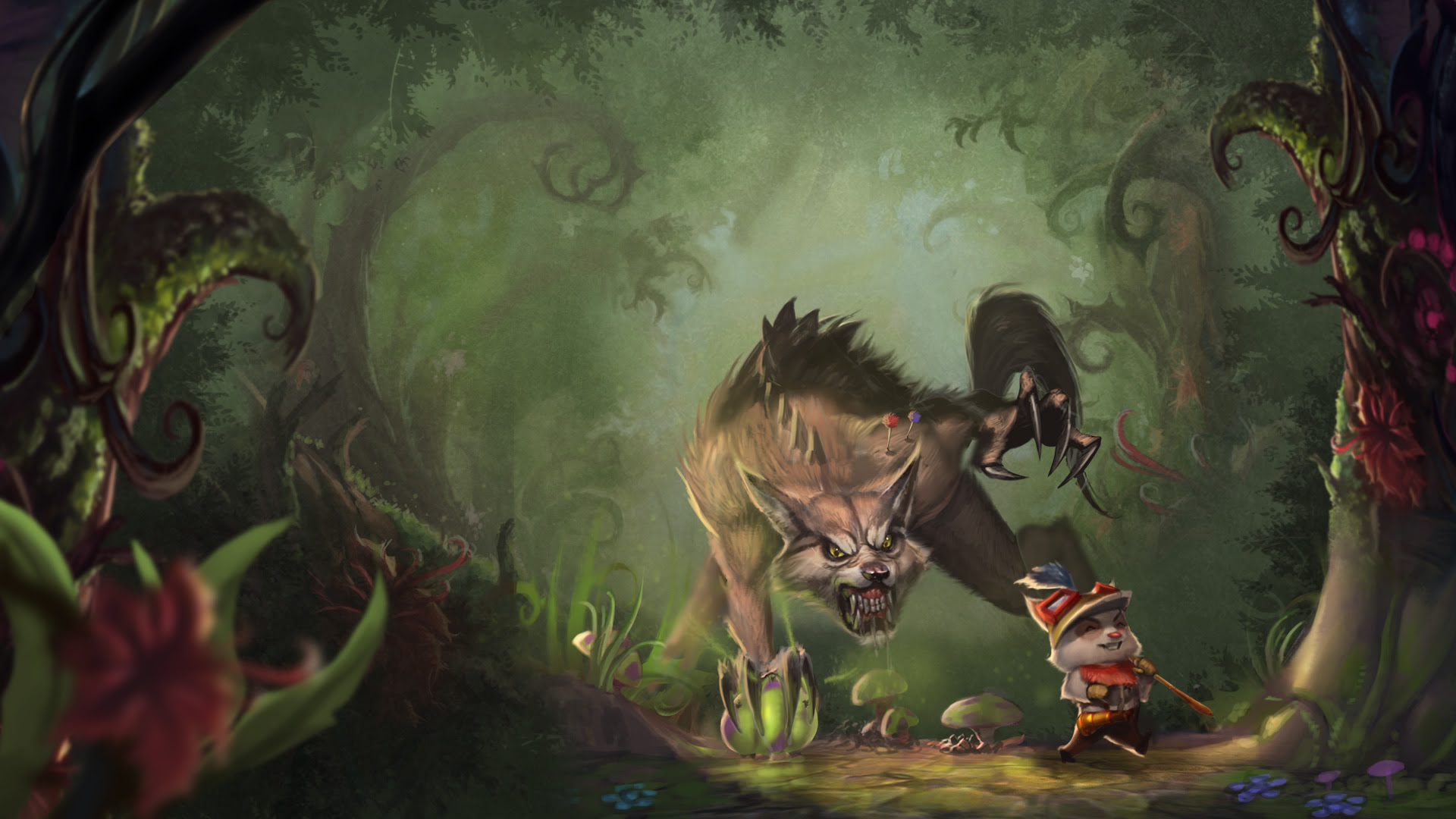 Great Hunt Teemo Warwick Wallpaper Leaguesplash