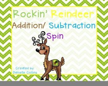 Rockin Reindeer Addition/Subtraction  Freebie
