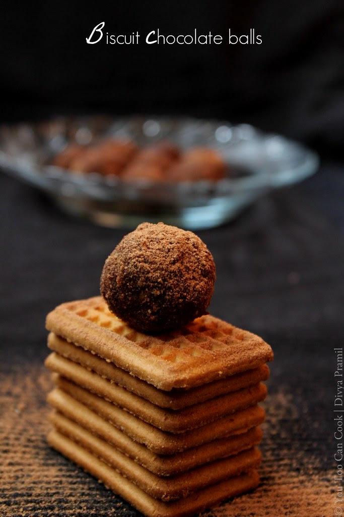 Biscuit Chocolate Balls   Choco Biscuit Balls   No Bake No Cook Chocolate  Balls
