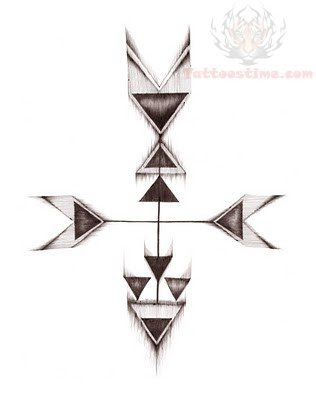 Cute Arrow Tattoo Design Idea For Girls