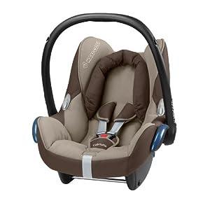 Maxi-Cosi 61705351 Cabriofix Kinderautositz Gruppe 0+ (bis 13 kg), ab der Geburt bis ca. 12 Monate, walnut brown