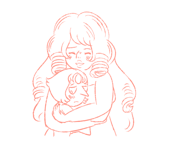 i found a really cute old rosepearl sketch i drew months ago but never finished