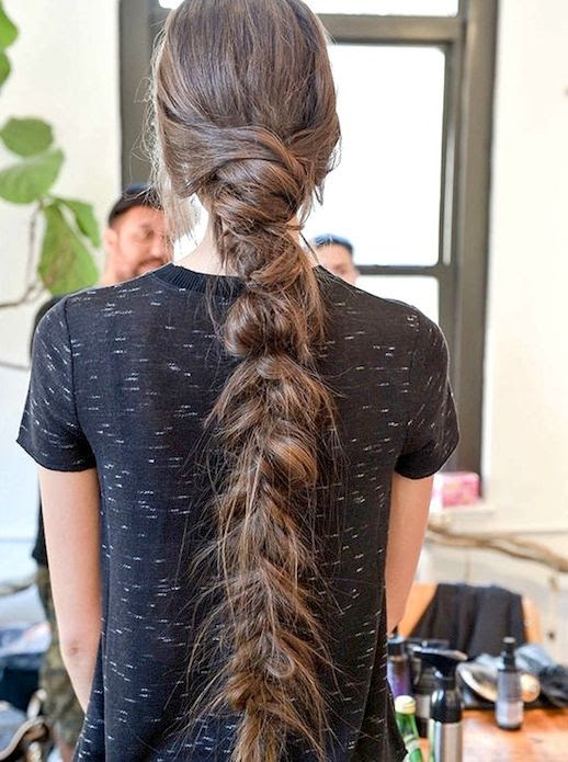 15 Le Fashion Blog 21 Braid Ideas For Long Hair Thick Romantic Braided Ponytail Hairstyle Via Elle