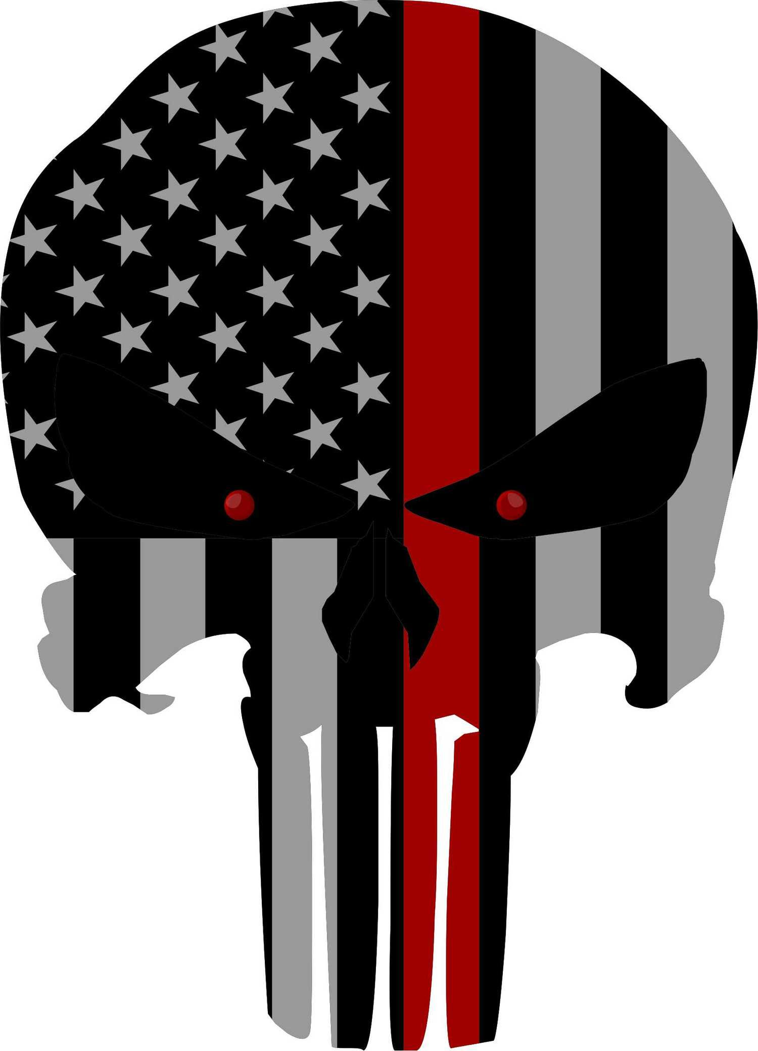Punisher Skull With Red Line Clip Art Library