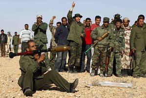 Libyan civilians training to defend the country and government against NATO and CIA-backed counter-revolutionary rebels now engaging in attacks in several cities. The U.S. and its imperialist allies are seeking regime-change in the North African state. by Pan-African News Wire File Photos