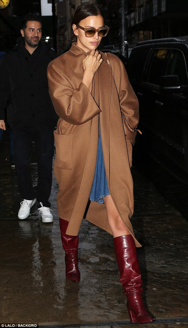 Night out! Irina Shayk, 32, took a break from the catwalk on Sunday to enjoy the New York Fashion Week festivities alongside friend and manager, Alika Voussi