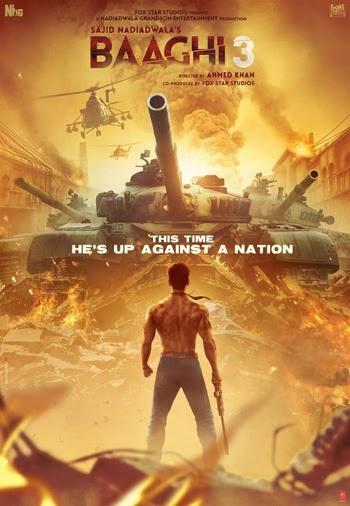 Baaghi 3 2020 Hindi Movie 480p Pre-DVDRip 400MB x264