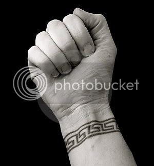 Greek Tattoos on Greek Key Pattern Wrist Tattoo