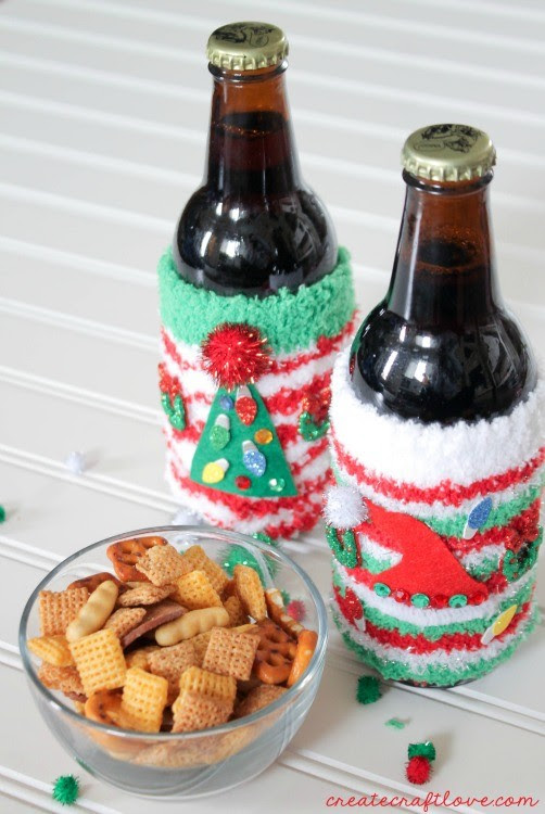 ugly christmas sweater coozies