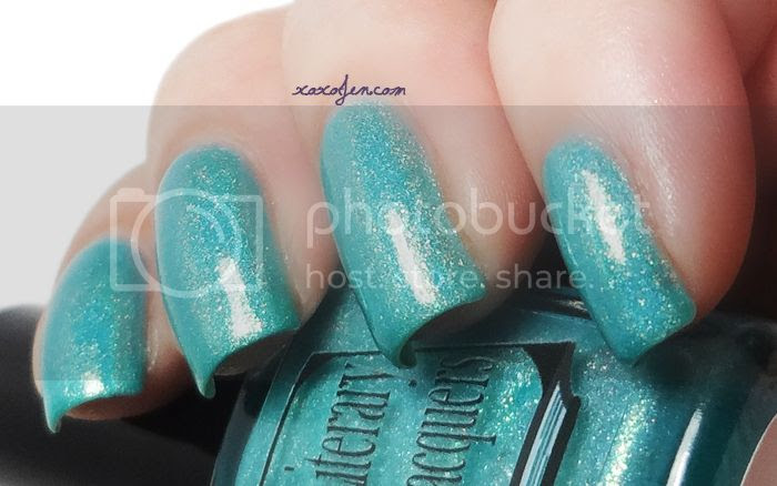 xoxoJen's swatch of Ether Binge by Literary Lacquers