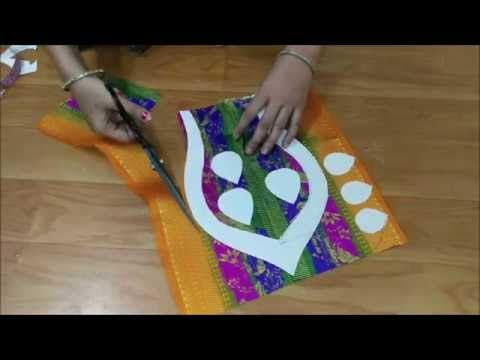 paithani saree blouse back neck design cutting and stitching