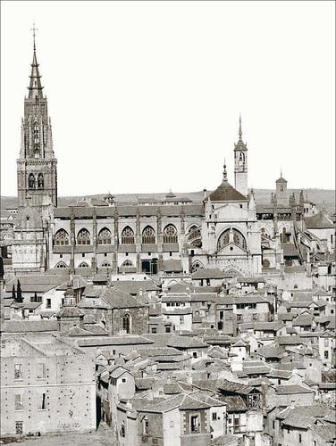 Catedral de Toledo hacia 1858. Foto de Jean Laurent. Archivo Ruiz Vernacci. Fototeca Histórica del Estado