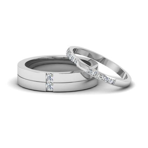 White Gold Wedding Bands For Mens & Women   Fascinating