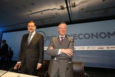 Mariano Rajoy y Josep Piqué, este sábado, en Sitges.