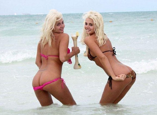Hypocrites? Karissa and Kristina Shannon celebrated spring break in Cancun by flashing their bottoms