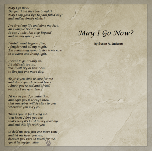 Great Poem On Letting Go Of A Loved One For Caregivers The Colon Club